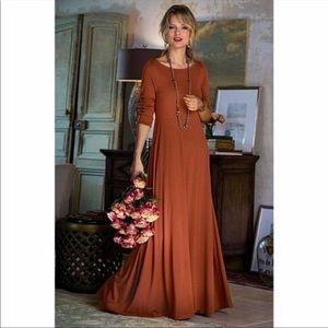 Soft Surroundings Santiago Burnt Orange Dress